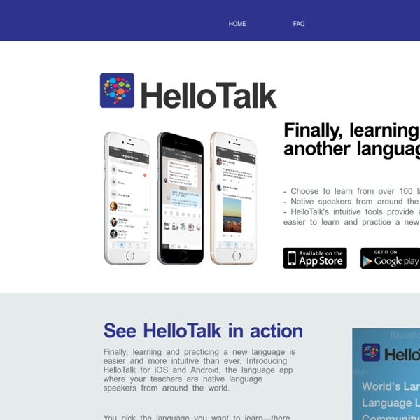 HelloTalk Language Exchange - Learn English Chinese Mandarin Korean Japanese Spanish German French Italian Russian Arabic App