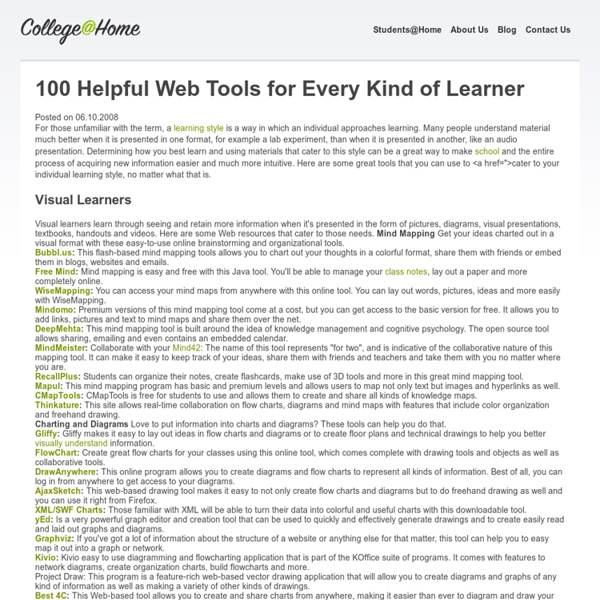 100 Helpful Web Tools for Every Kind of Learner