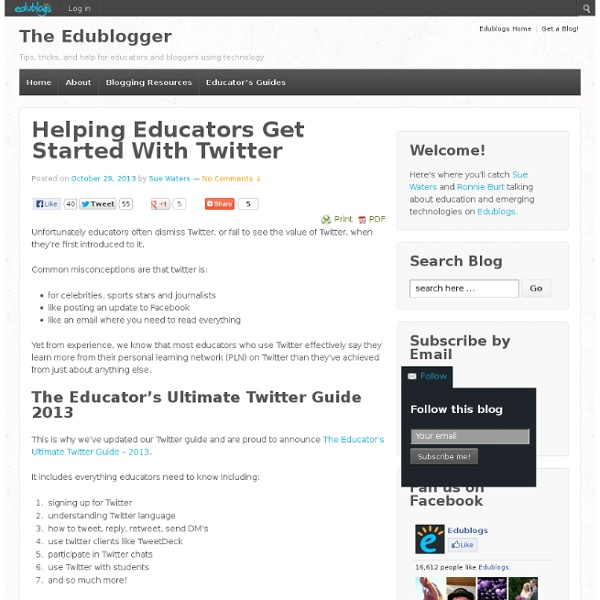 Helping Educators Get Started With Twitter