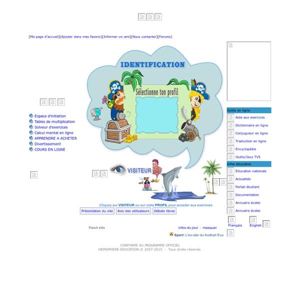 Hemisphere Education - Plus de 20 000 exercices en ligne