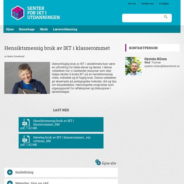 Hensiktsmessig bruk av IKT i klasserommet