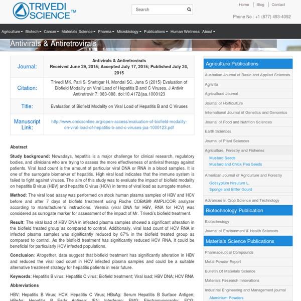 Evaluation of HEP C & HCV RNA Viral Load