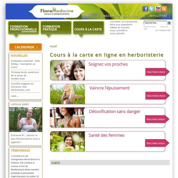 Cours à la carte en ligne en herboristerie