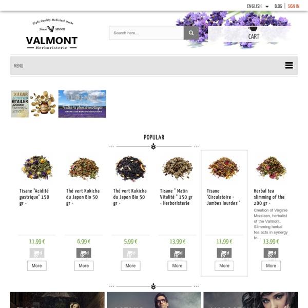 Herboristerie en ligne : Plantes médicinales de l'Herboriste, la qualité certifiée - Herboristerie du Valmont