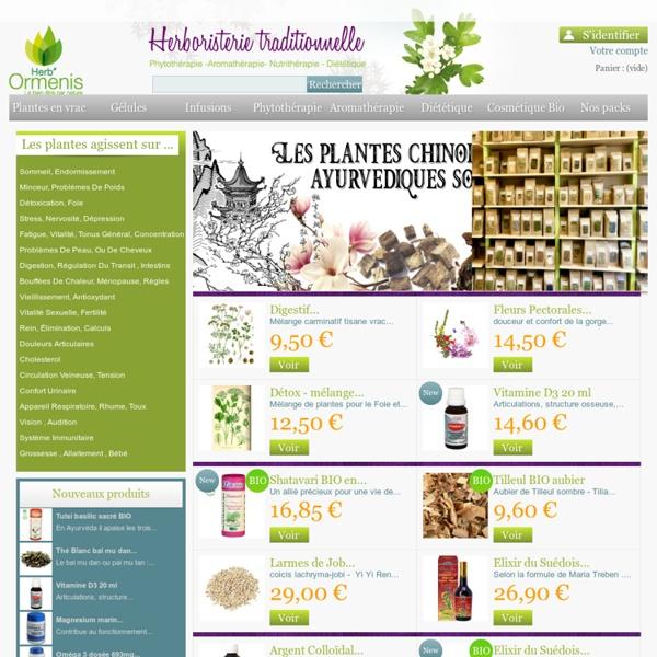 Herboristerie Paris en ligne - Phytothérapie - Ormenis