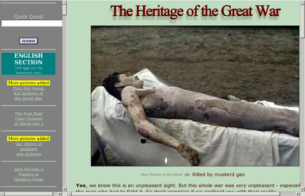 The Heritage of the Great War / First World War 1914-1918. Graphic color photos, pictures and music