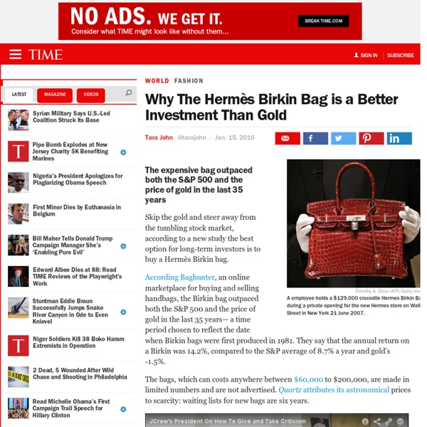 Why The Hermès Birkin Bag is a Better Investment Than Gold