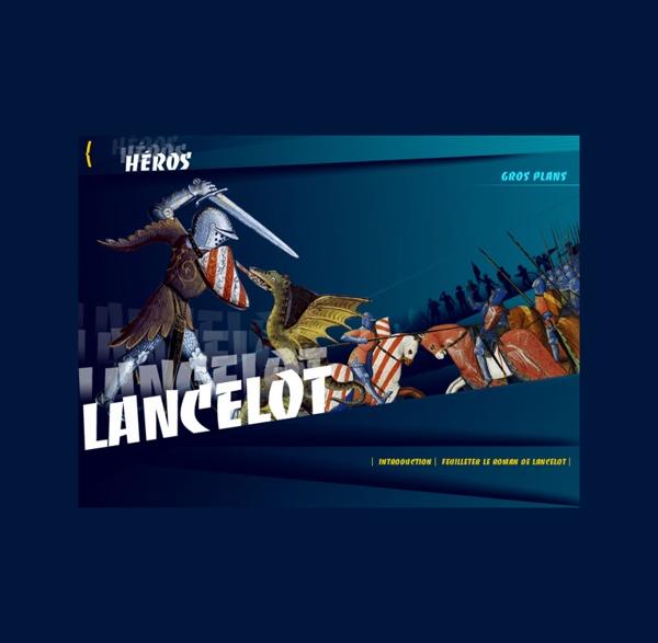 Dossier BNF - Héros (gros plans : lancelot)