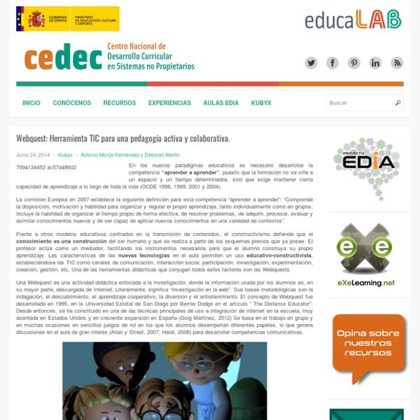 Webquest: Herramienta TIC para una pedagogía activa y colaborativa.