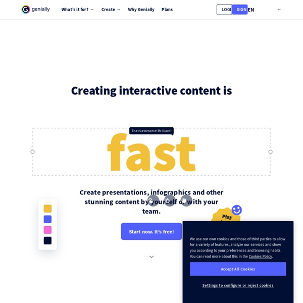Genial.ly - Software to create amazing interactive content