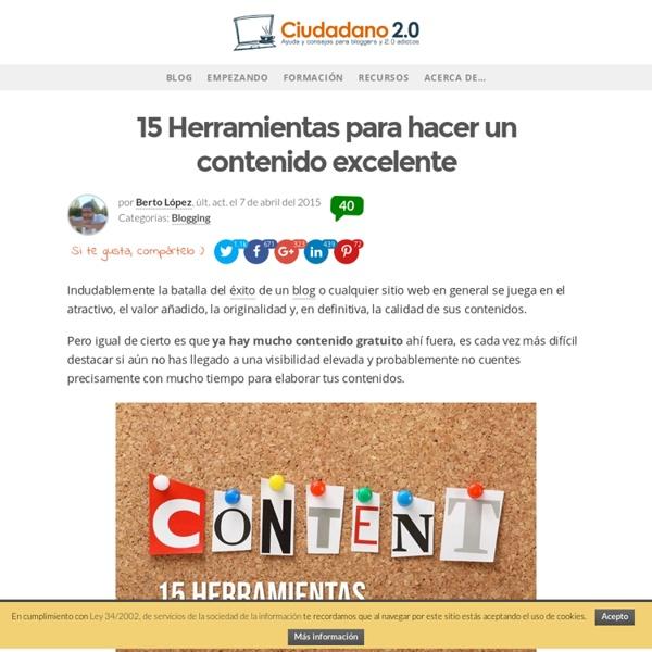 15 Herramientas para hacer un contenido excelente