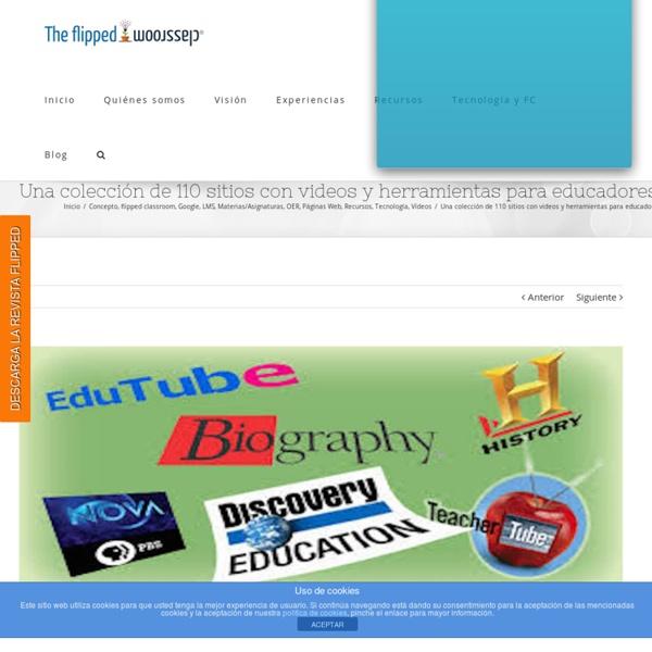 Una colección de 110 sitios con videos y herramientas para educadores