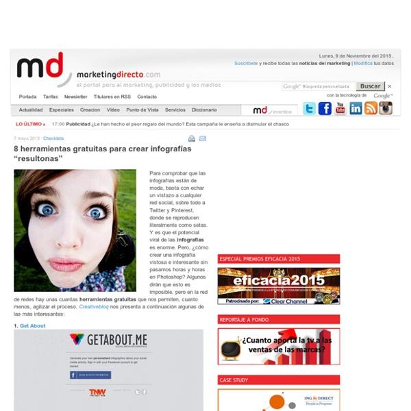 """8 herramientas gratuitas para crear infografías """"resultonas"""""""