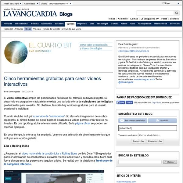 Cinco herramientas gratuitas para crear vídeos interactivos