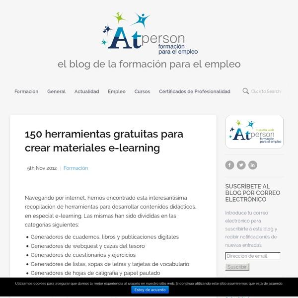 150 herramientas gratuitas para crear materiales e-learning