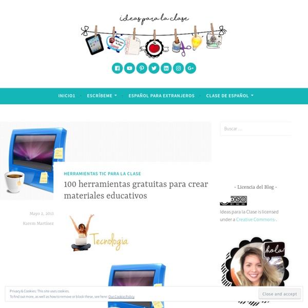 100 herramientas gratuitas para crear materiales educativos