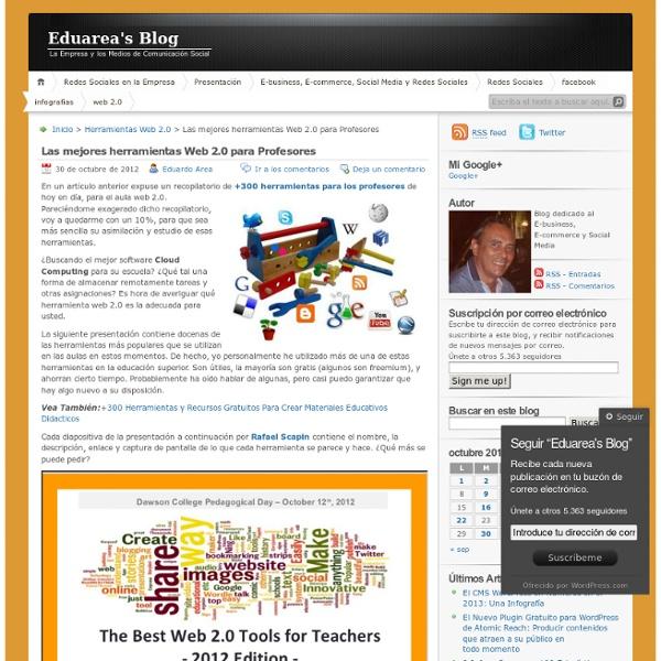 Las mejores herramientas Web 2.0 para Profesores