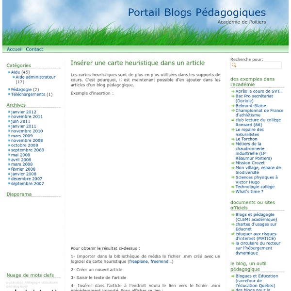 Insérer une carte heuristique dans un article – Portail Blogs Pédagogiques