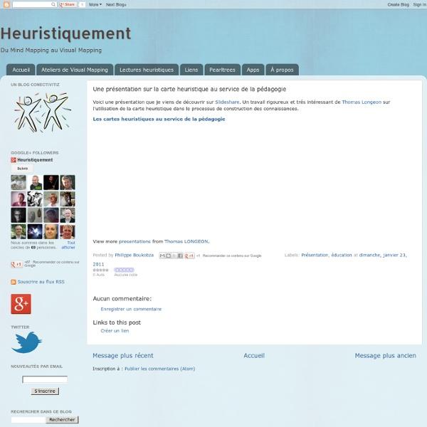 Une présentation sur la carte heuristique au service de la pédagogie