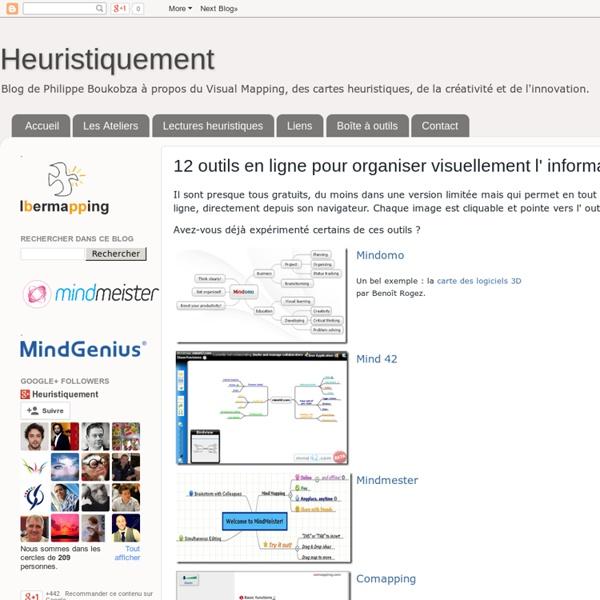 12 outils en ligne pour organiser visuellement l' information