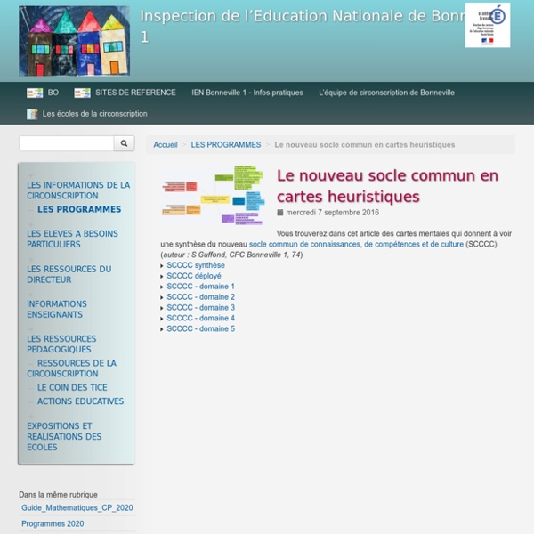 Le nouveau socle commun en cartes heuristiques - Inspection de l'Education Nationale de Bonneville 1