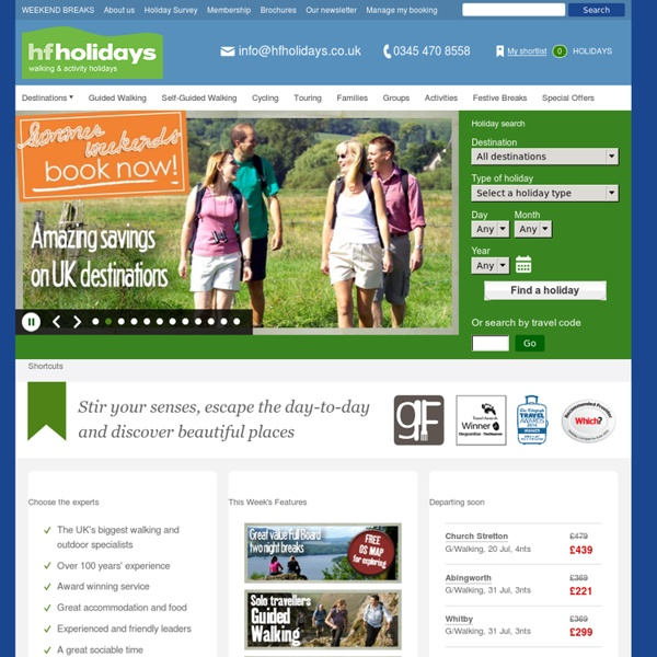 HFHolidays - UK's biggest Walking and Leisure Activity Holiday provider