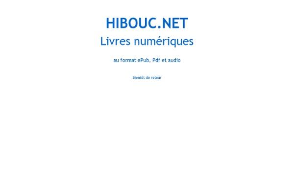 Hibouc, des livres numériques gratuits