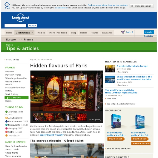 Hidden flavours of Paris