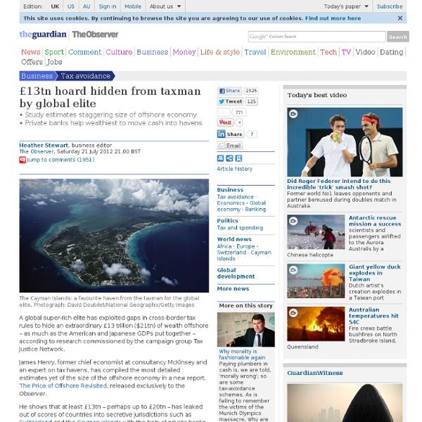 $21tn: hoard hidden from taxman by global elite