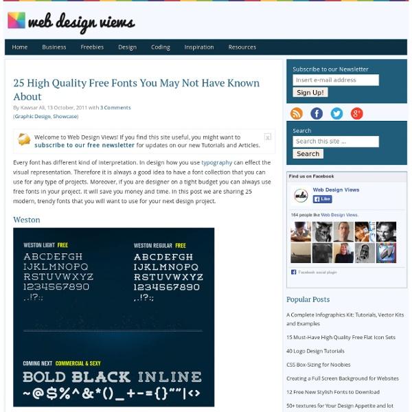 25 High Quality Free Fonts