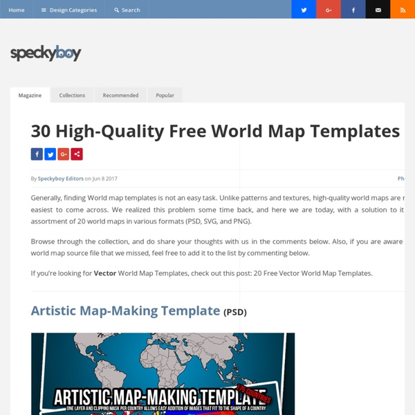 25+ Free Vector World Maps (.ai, .eps and .svg formats) :Speckyboy Design Ma...