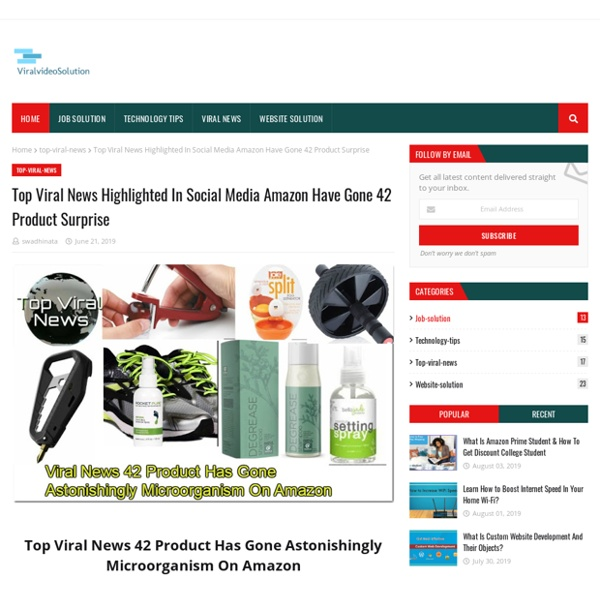 Top Viral News Highlighted In Social Media Amazon Have Gone 42 Product Surprise