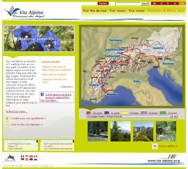 Escursionismo sulla Via Alpina - Benvenuto