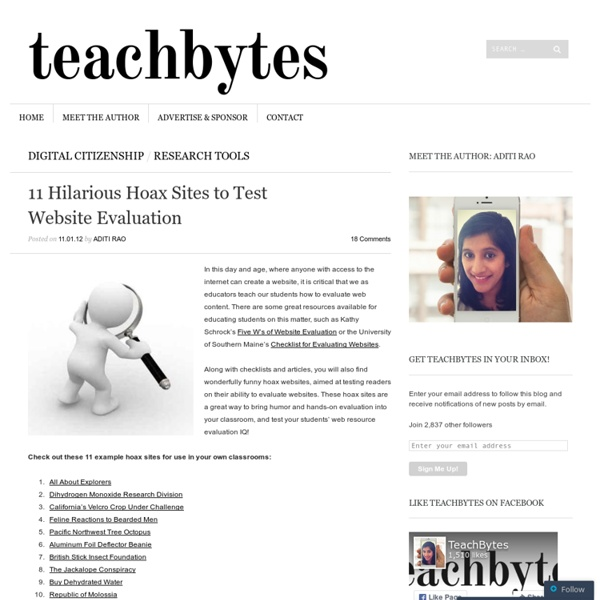 11 Hilarious Hoax Sites to Test Website Evaluation