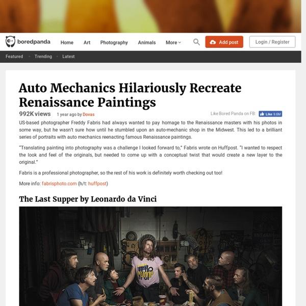 Auto Mechanics Hilariously Recreate Renaissance Paintings