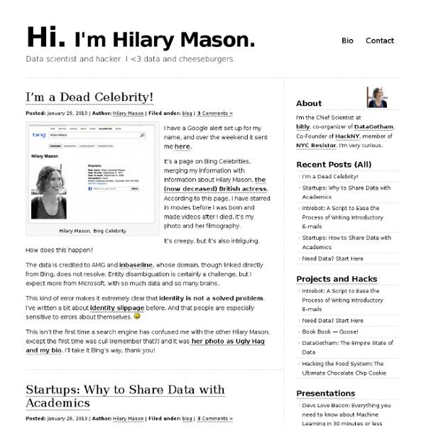 Hilarymason.com