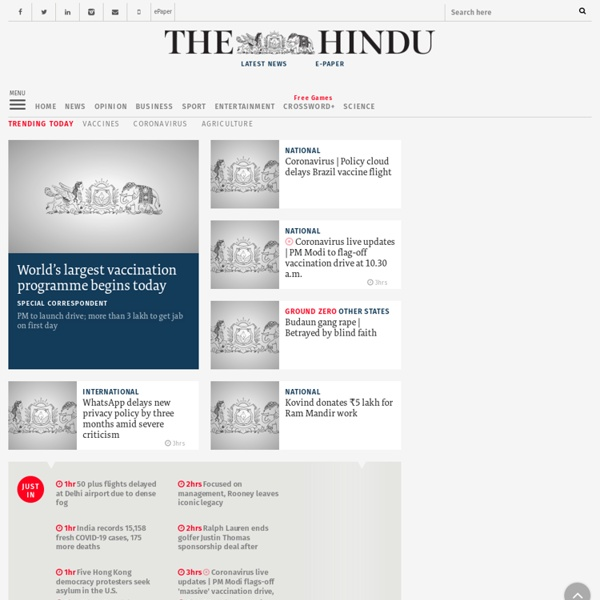 The Hindu: Latest News, Breaking News, Current News, Live Updates on India & World - Iceweasel