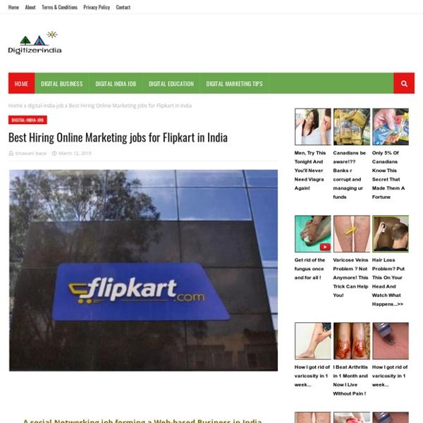Best Hiring Online Marketing jobs for Flipkart in India