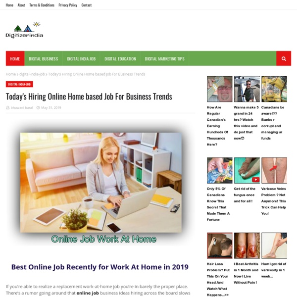 Today's Hiring Online Home based Job For Business Trends