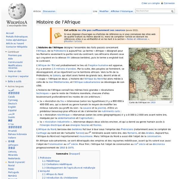 Histoire de l'Afrique