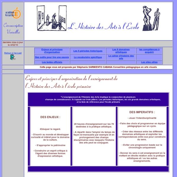 Académie de Versailles - Histoire des arts