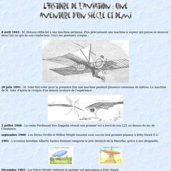 L'histoire de l'aviation : un siècle de découvertes