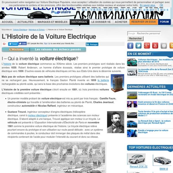 L'Histoire de la voiture electrique