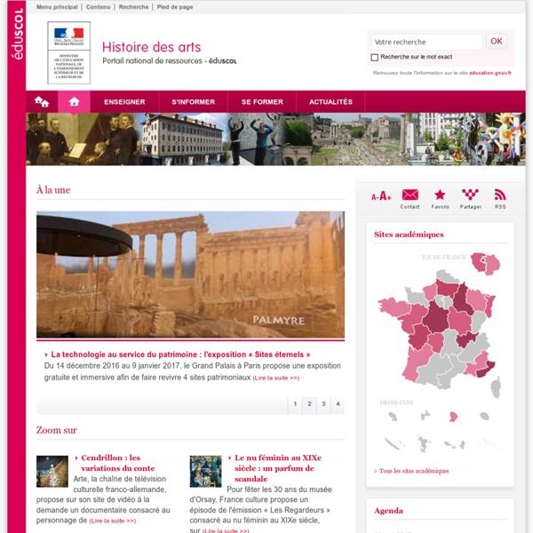 TICE Histoire des arts, Cours, Logiciel, Programme, Exercices et fiches pédagogiques - Éducnet