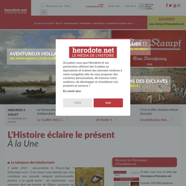 Toute l'Histoire avec Herodote.net - Actualité, dates, récits - Herodote.net