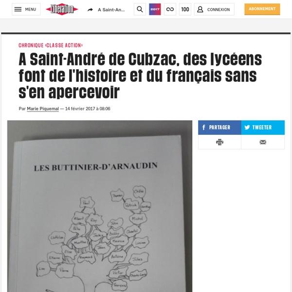 (20+) A Saint-André de Cubzac, des lycéens font de l'histoire et du français sans s'en apercevoir