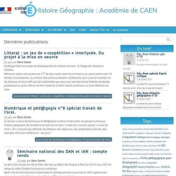 Histoire Géographie: Académie de CAEN