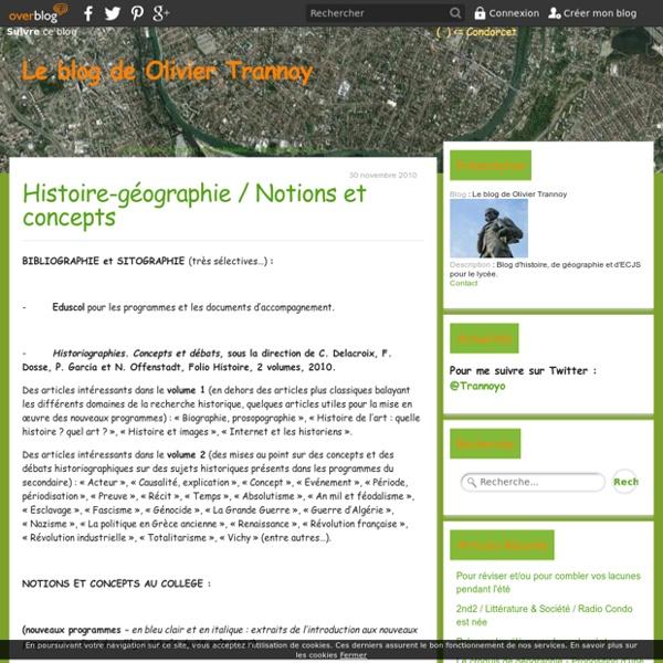 Histoire-géographie / Notions et concepts