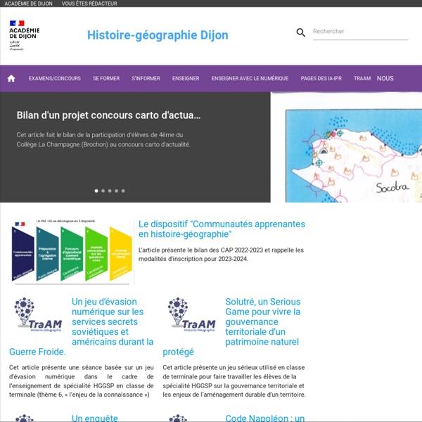 Site académique - Histoire géographie - Dijon