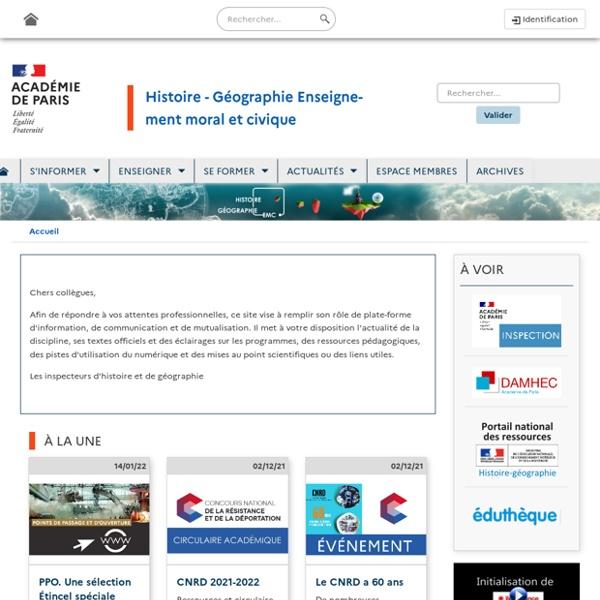 Académie de Paris - Histoire Géographie Education Civique